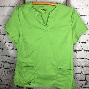 e08f3d3d021 crocs Other | Scrubs Top Pants Gray Green Set Outfit | Poshmark